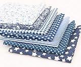 7 Stücke Baumwollstoff Stoffpaket für Patchwork DIY je 50