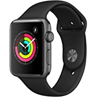 AppleWatch Series3 (GPS, 42mm) - Space Gray Aluminium Case with Black Sport Band
