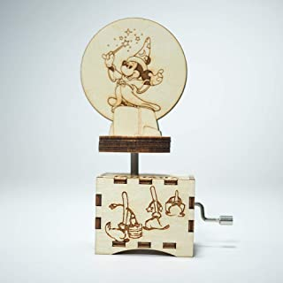 Fantasia music box - The Sorcerer apprentice - Personalized gift - Hand cranked mechanism