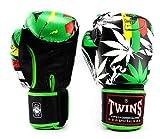 Twins Boxing Gloves Fancy FBGVL3-54 Green Sparring Training Gloves Muaythai MMA K1 (10 oz)