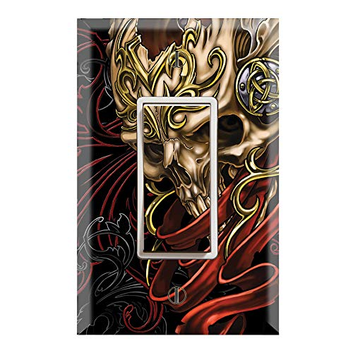 Graphics Wallplates - Celtic Skull - Single Rocker/GFCI Outlet Wall Plate Cover