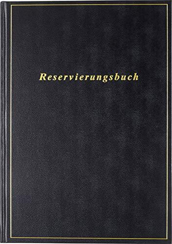 rido/idé 702740390 Reservierungsbuch (1 Seite = 1 Tag, 210 x 297 mm, Balacron-Einband, Kalendarium 2020) schwarz