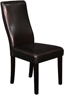 Pleasing Amazon Com Monsoon Pacific Milan Faux Leather Dining Creativecarmelina Interior Chair Design Creativecarmelinacom