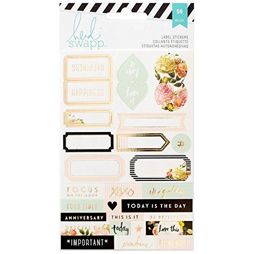 American Crafts Heidi Swapp 10268595 Sjabloon voor opslag Planer etiketten 2/bladen, acryl, meerkleurig
