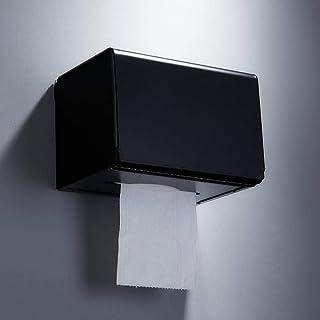 Jcy ティッシュボックス、黒タオルラックセットのハードウェア、バスルームアクセサリー (Size : Tissue box)