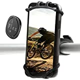 iFlexplus Fahrrad Handyhalterung 360° Rotation Silikon Handyhalterung Universal für Motorrad GPS Geräte und Kompatibel mit iPhone 11 Pro Max/X/XS MAX/XR/8/8 Plus, Samsung S20/S10/S10e mit Zubehör auch