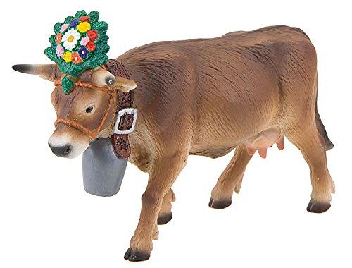 Bullyland 62615 - Spielfigur, Alpenkuh Darina, ca. 12,8 cm groß, liebevoll handbemalte Figur, PVC-frei, tolles Geschenk für Jungen und Mädchen zum fantasievollen Spielen