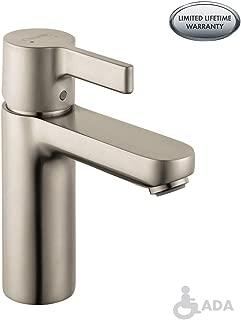 hansgrohe Metris S  Modern 1-Handle  6-inch Tall Bathroom Sink Faucet in Brushed Nickel, 31060821