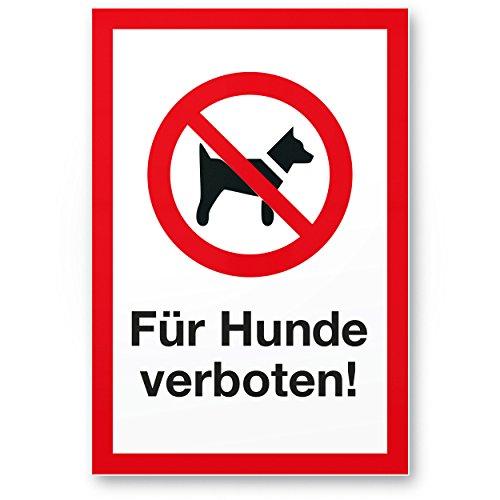 Voor honden verboden, honden plastic bord - buiten blijven/instructiebord/deurbord/verbodsbord - hondenverbod, verbod honden - restaurants, winkels, kantoren,