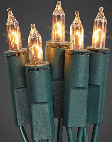 Hellum 835014 Lichterkette 50 Pisellokerzen klar / 10,35 m/innen/Zuleitung 2x1,5 m grün