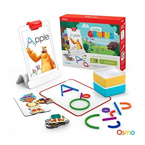 Osmo - Little Genius Starter Kit for iPad - 4 Hands-On Learning Games - Preschool Ages - Problem Sol...