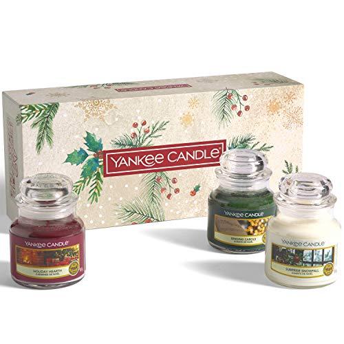 Yankee Candle confezione regalo | Candele profumate natalizie | 3 giare piccole | Collezione Magical Christmas Morning