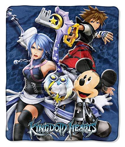 The Northwest Company Disney Kingdom Hearts Sora Aqua und Mickey Schlüsselschwert Silk Touch Decke werfen