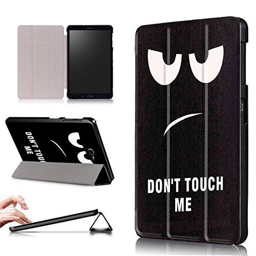 Xuanbeier Ultradunne Hulle Kompatibel mit Samsung Galaxy Tab A 101 2016 SM T580T585 A6 Tablette Schutzhulle mit Stander und Auto SchlafWachen FunktionDont Touch me