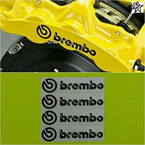 myrockshirt Kompatibel für Brembo 6 x Bremsenaufkleber Bremsen Aufkleber Bremssattel Hitzebeständig Decals Stickers
