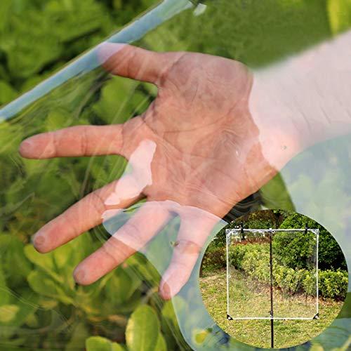 Lonas Impermeables Exterior con Ojales,Lona de Protección Resistente Al Polvo Antiedad PVC Vaso Transparente,for Invernadero Jardín Toldo de Planta Tela de Plástico,0.3mm (1.8x3m/6x10ft)