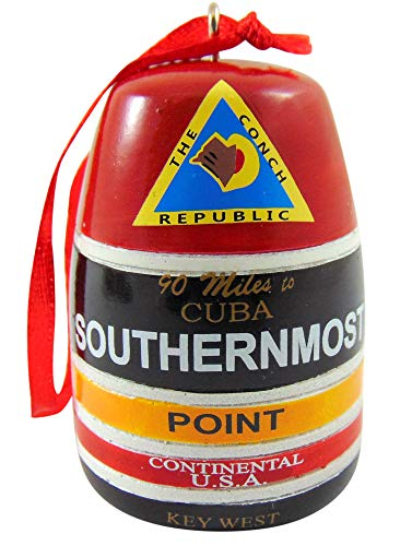 Southernmost Point Buoy Replica Ornament Key West Christmas Tree Decoration, 2 inch