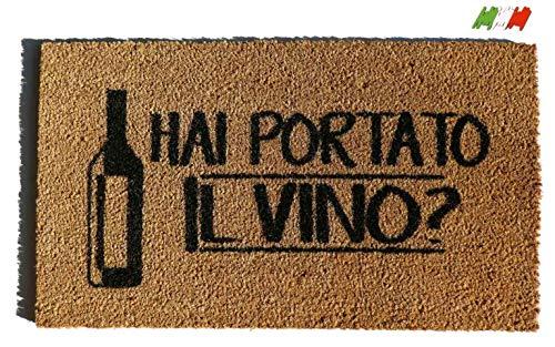 CASA TESSILE Zerbino Rettangolare in Cocco cm. 40X70 Allegro Vino Naturale