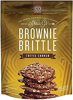 Sheila Gs Toffee Crunch Brownie Brittle, 5 Ounce -- 12 per case.