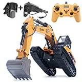 rc Excavator 1580toy for Adults 1:14 rc Construction Vehicles Remote Control Truck Hobby Remote & app Controlled Vehicles Adult Toys 2.4Ghz Powerful Upgraded V4 with New Motherboard