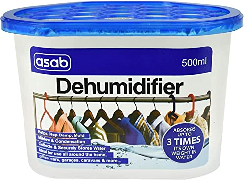 Scented Desiccant Dehumidifier for Home | Wardrobe Moisture Absorber | Damp Trap with Crystals | Portable Humidity Catcher | Anti Mould Wet Remover - Original 10 Pack