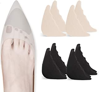 4 Pairs Toe Filler Inserts Adjustable Toe Plug Reusable Shoe Filler for Too Big Shoes for Women Men Unisex Pumps Flats Sne...