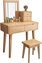 Bedroom Furniture Multifunctional Storage Rack with Mirror 2 Drawer Card, Girl Dressing Table Drawer,Dressing Table for Gi...