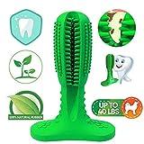 NUFOKG - Spazzolino da Denti per Cani, in Gomma Resistente, con setole per la Pulizia Dentale, per Cani di Taglia Media e Grande (Green)