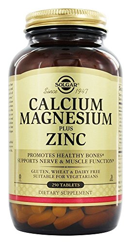 Solgar Calcium Magnesium Plus Zinc Tablets - Pack of 250 - Healthy Bones,...