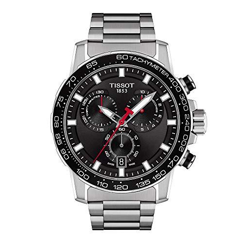 Tissot orologio Supersport Chrono 45,5mm Nero quarzo Acciaio T125.617.11.051.00
