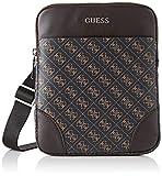 Guess - Manhattan Logo, Shoppers y bolsos de hombro Hombre, Marrn (Brown), 2x23x19 cm...