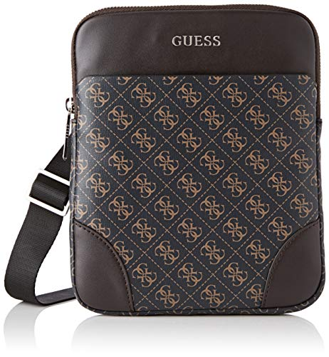 Guess Herren Manhattan Logo Schultertasche, Braun (Brown), 2x23x19 centimeters