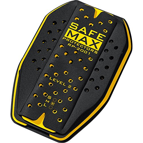 Safe Max Motorrad Rückeneinsatzprotektor Damen & Herren | Protektor Einsatz, höchste Schutzstufe, atmungsaktiv, extrem leicht- Gr. L, Gelb
