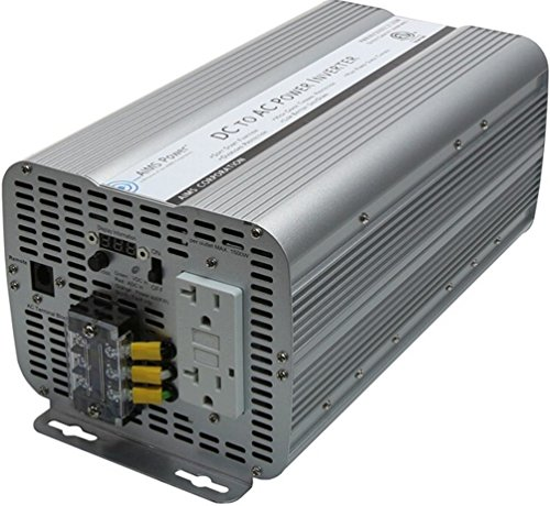 AIMS Power 3600 Watt Modified Sine Power Inverter 12Volt DC to 120 Volt AC ETL Certified to UL 458 with GFCI Outlets and AC Terminal Block