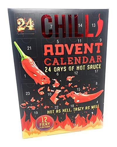 """Adventskalender 2020 mit Aufschrift """"24 Days of Hot Soce"""""""