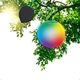 Sphère Boule lumineuse LED Globe RGB Premium - Étanche IP65 - Panneau solaire haut rendement - Télécommande - Lampe de Jardin - Batterie 10H - Fixation dans les arbres - Diffusion 360°- 30 cm