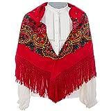 Daquela Modelo Tui - Pañuelo o mantón para mujer (Rojo)