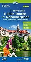 ADFC Traumhafte E-Bike-Touren im Donaubergland 1:75.000, reiss- und wetterfest, GPS-Tracks Download, mit Tourenvorschlaegen: und in der suedlichen Schwaebischen Alb
