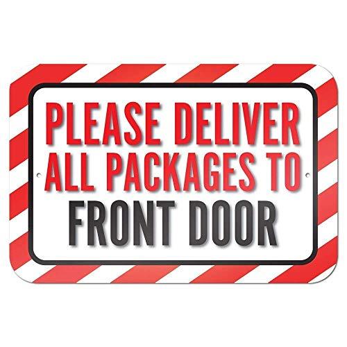 niet Gelieve alle pakketten aan de voordeur metalen tin teken schilderij decoratie Populaire IJzeren Schilderij Poster Voor bar cafe eetkamer house club