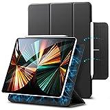 ESR Magnetische Hülle kompatibel mit iPad Pro 12.9 2021 (5.Generation) / 2020 (4.Generation), Auto Schlafen/Wachen, Smart Hülle mit Pencil 2 Unterstützung & Trifold Ständer,Schwarz