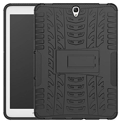 Galaxy Tab S3 9.7 Case, Kickstand Tough Rugged Hybrid Dual TPU+PC Hard Impact Armor Case for Samsung Galaxy Tab S3 9.7 inch (Black)