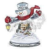 Adhesivos decorativos para ventanas de Navidad, impermeables, con diseño de caja de música, muñeco de nieve, Papá Noel, 20 x 30 cm
