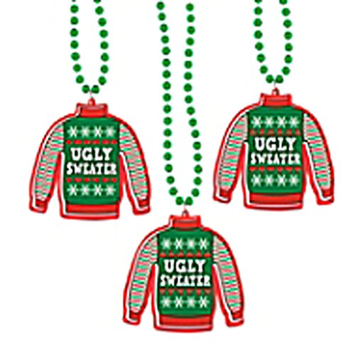 Ugly Christmas Sweater Necklaces! Perfect for Accentuating & Accessorizing Your Ugly Cristams Sweater! Great As Prize Medals & Party Favors!