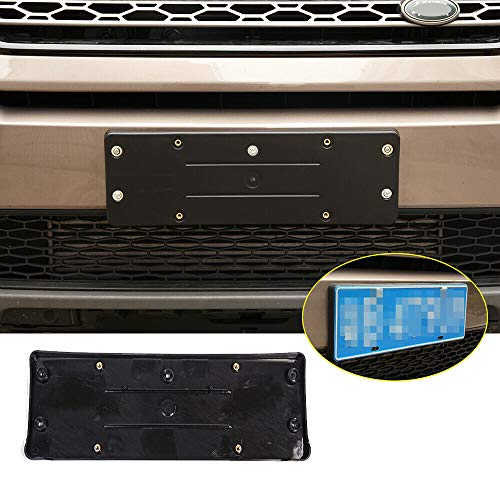 Car ABS License Plate Frame Trim Decorative Cover for Land Rover Discovery Sport 2015-2018