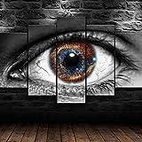 5 Stück Leinwand Wandkunst 5 Stück HD Riesenmalerei Deep Galaxy in einem Auge Leinwand Malerei Wandkunst Bild Wohnzimmer Home Decoration Leinwand Malerei Kinderzimmer Wohnzimmer Schlafzimmer