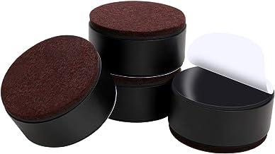Ezprotekt Rehausseur de Meubles en Acier Carbone de 3 cm, Rehausseurs de Lit en Acier Carbone 6 cm, Rehausseurs de Meubles...