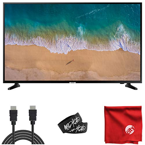 Samsung 43-Inch Class NU6900 4K HDR UHD Smart LED TV (UN43NU6900BFXZA) Built-in USB, HDMI, Dolby Digital Plus Sound, Wi-Fi Bundle with 6-Foot HDMI Cable, Cable Ties and Microfiber Cloth