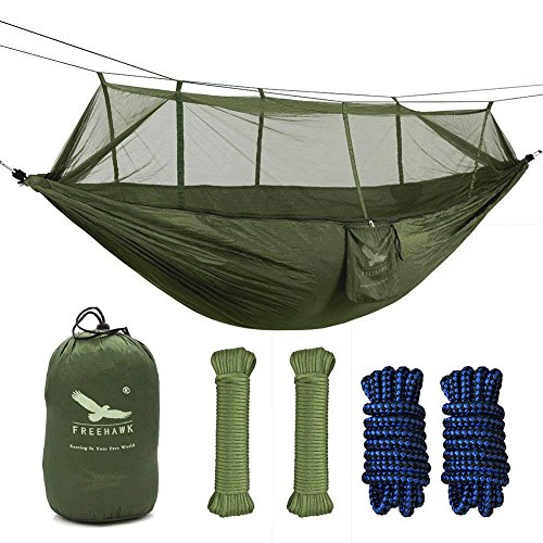 OUTFANDIA Camping Hammock with Mosquito Net,Double Persons Iqammocking...