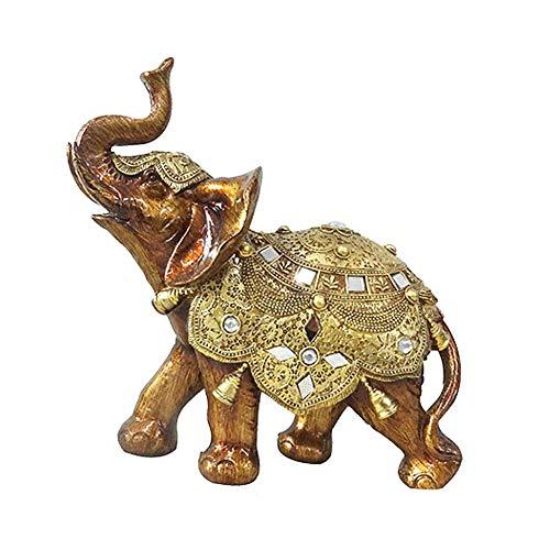 Thailändische Art Elefant Harz Skulpturen für Hauptdekor Verzierungs Wein Kabinett Dekoration,22 * 12 * 24cm