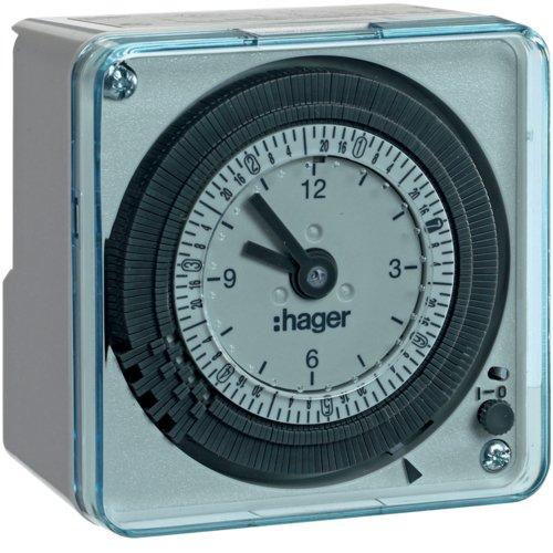 Hager EH771 - Interruptor horario esfera semanal 220v-50hz con reserva 200h